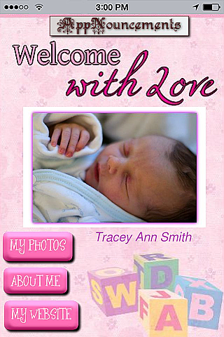 Baby Announcement - Girl App Templates