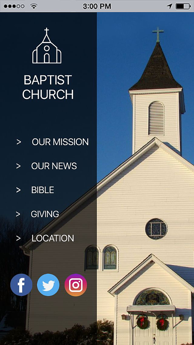 Baptist Church App Templates