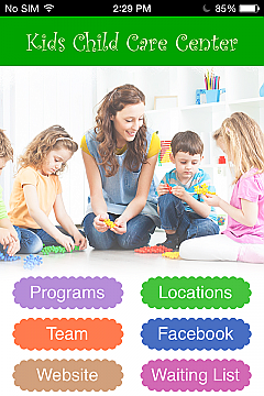 Child Care Services App Templates
