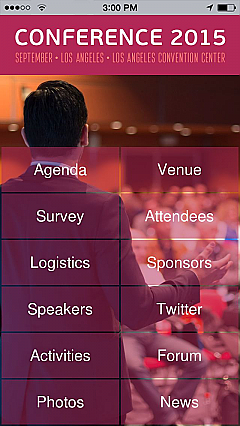 Corporate Conference 3 App Templates