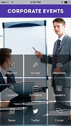 Corporate Events 3 App Templates