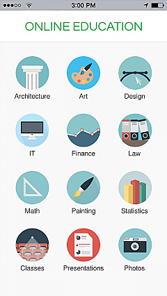 Online Education 2 App Templates