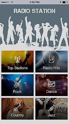 Music radio App Templates