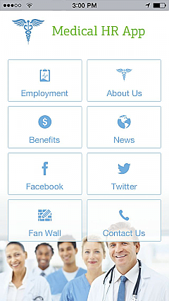 Medical HR App Templates