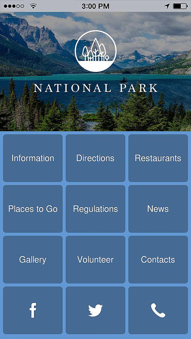 National Park App Templates